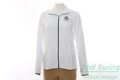 New Womens Adidas 2016 Ryder Cup Essentials Wind Jacket Large L White MSRP $70