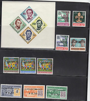 Haiti 1959-1970  All  Mint never hinged Collection