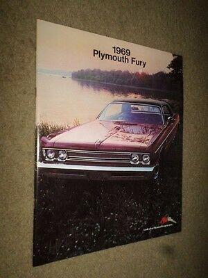 "2D. 1969 Plymouth ""Fury"" Car Dealer Sales Brochure"