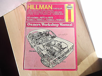 Hillman Chrysler Avenger Haynes Workshop Manual 1970-1978