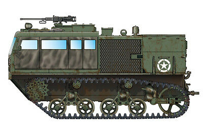 HOBBYBOSS® 82920 US Army M4 High Speed Tractor (3-in./90mm) in 1:72