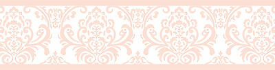 Sweet Jojo Designs Pink Damask Baby Girls Kids Wall Paper Border Room Decor