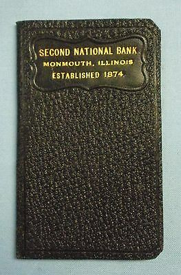 """VINTAGE Monmouth, Illinois . 2nd National Bank Deposit Book . 4""""T"""