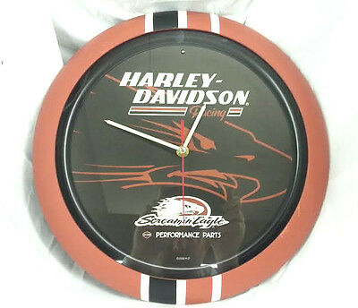 """Harley Davidson Wall Clock  13"""" Screaming Eagle With Sound"""