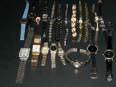 Mixed Lot Of 20 Complete Wristwatches With Bands, Parts, Accessories
