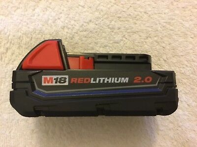 New Milwaukee 48-11-1815 M18 18V 18 Volt Red Lithium Ion Battery 1.5Ah
