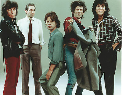 Rolling Stones 8 X 10 Photo With Ultra Pro Toploader