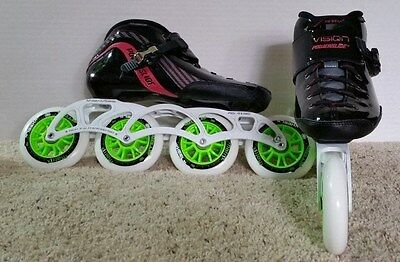 Powerslide Vision Pure speed skates sizes 41 or 42 (US 8 or 9, women's 9 or 10)