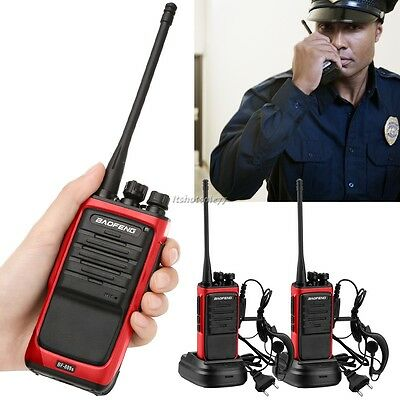 2x Baofeng BF-888S MAX Rosso 400-470MHz Walkie-Talkie Radio+Auricolare