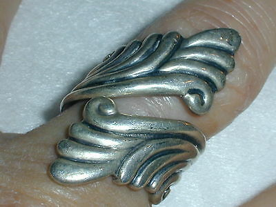 Great! Vintage Balderas Taxco Sterling Bypass Ring- Size 7!