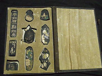 9 Lot Vintage Suzuri Chinese Ink Stone for Shodo Calligraphy Unused