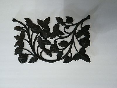 Antique Decorative Wrought Iron Metal Hanging Roses Wall Decor From New Orleans