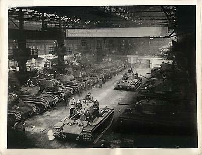 WWII Russian KV-1 Tanks Under Construction in Chelyabinsk Tractor Plant Photo