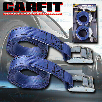"2x 1.8 METRE CAMBUCKLE TIE DOWN STRAP STRAPS 25MM 1"" PAIR ROOF RACKS LUGGAGE"