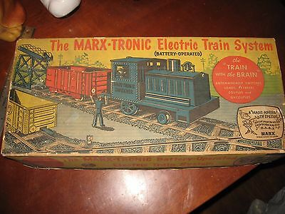 Vintage Marx Marx-tronic Battery-operated Electric Train System w/ Box