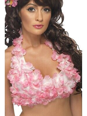 Hawaiian Flowered Halterneck Assorted Party Fancy Dress Costume Accessory