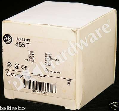 New Allen Bradley 855T-B24DN5 /B Control Tower Stack Light Black Housing 24V Qty