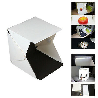 Pliant 22.9cm Lightbox Studio LED Séance Photo Box pour Smartphone DSLR Portable