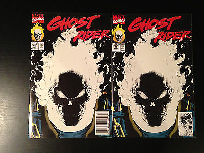 Ghost Rider # 15 Direct & Newsstand Editions Near Mint Glow In The Dark Marvel