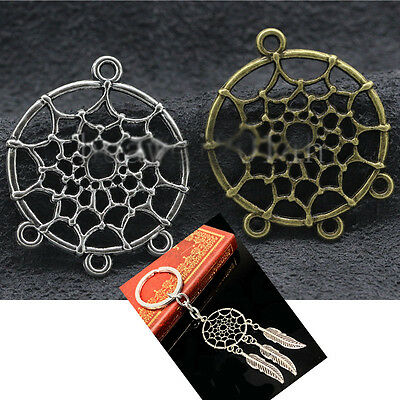 30pcs Dreamcatcher Connector Charms Pendants Crafts Jewelry Findings DIY