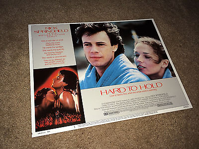 HARD TO HOLD Lobby Card Movie Poster 1984 Rick Springfield Rock & Roll #5