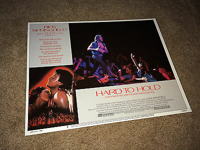 HARD TO HOLD Lobby Card Movie Poster 1984 Rick Springfield Rock & Roll #8