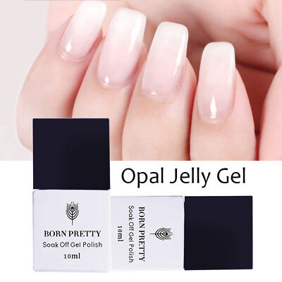 10ml Born Pretty Nail Art UV Gel Polish Opal Jelly Gels White Soak Off Varnish