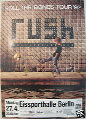 Rush Concert Tour Poster 1992 Roll The Bones