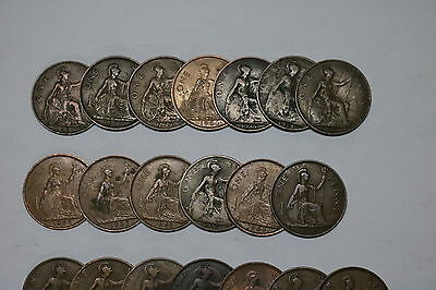 Uk Gb Penny Collection All Different A55 Zi30