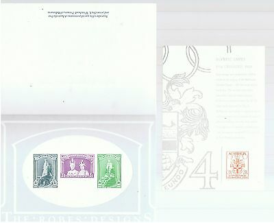 The Robes Designs/olympic Games 3 1/2 Pre-Decimal Replica Cards.