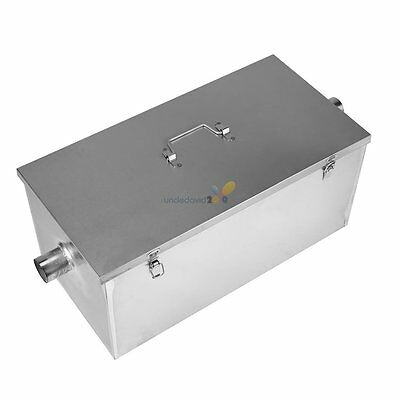 13GPM 25LB Gallon Per Minute Commercial Grease Trap Stainless Steel Interceptor
