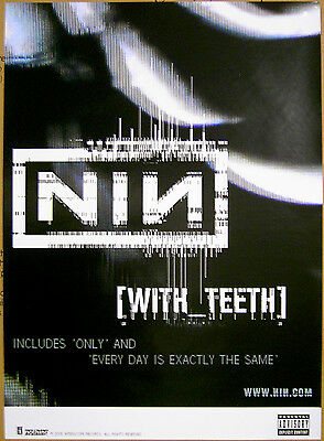 NINE INCH NAILS With Teeth 2005 promo POSTER 18 x 24 inch Trent Reznor