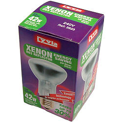 28w 370lm Reflector R50 Clear Front Xenon G9 Lamp SES (Boxed) + Tape Measure