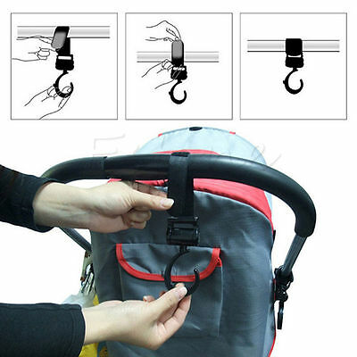 Hot Sale 2Pcs Multi Purpose Baby Pram Stroller Pushchair Swivel Hanger Hooks