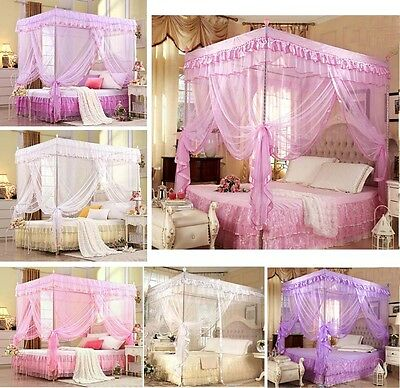 Christmas Gift Princess Bedding Canopy Mosquito Netting Or Frame(Post) All Size