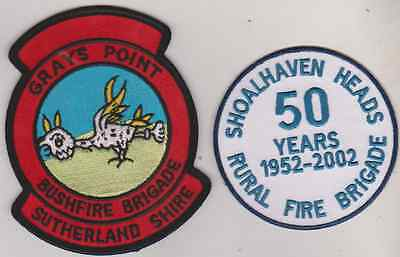 Shoalhaven Heads Rural Fire 50 Years & Grays Point NSW Australia patch