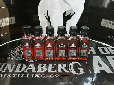 6 x Bundaberg Rum MDC Black Barrel Distilled 2005 Minature 50mL Bottles