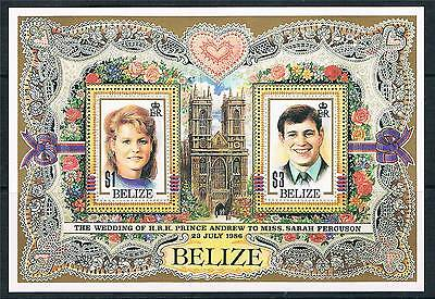 Belize 1986 Royal Wedding MS SG 944 MNH