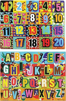 Melissa & Doug JUMBO CHUNKY LEARNING PUZZLE ABC 123 Children's Toy BN