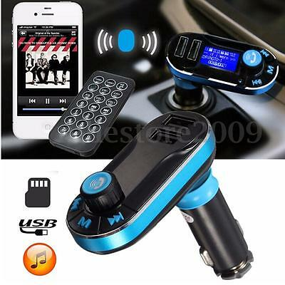 Dual USB Car Kit Charger Wireless Bluetooth Stereo MP3 Player FM Transmitter AUX