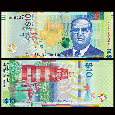 Bahamas 10 Dollars, 2016, P-NEW, Colorful, New design, UNC