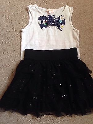 3 X Black M& S Tutu Skirt Leggings Vest Top  3-4 Year Old Girls Party Summer