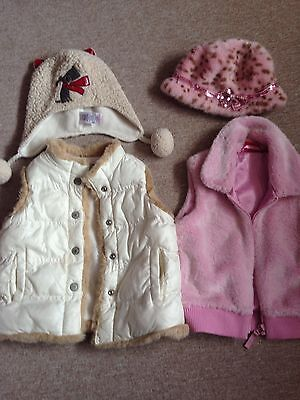 Tigerlily Old Navy Next 3-4 Year Old Girls X 4 Items Winter Hats gillets Jackets