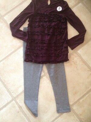 New Next Girls Top / Leggings Set Age 8 Years bnwt
