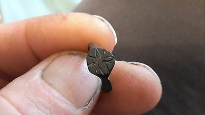 Nice Little Medieval Childs Bronze Ring-Detecting Find