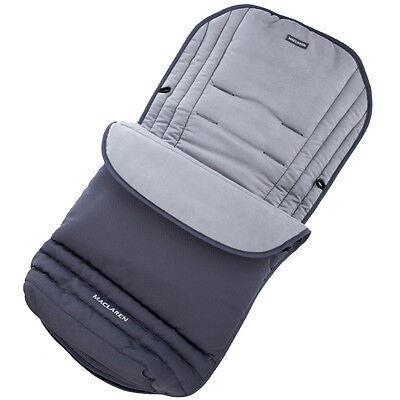Maclaren Cushioned Footmuff For Pram - Toddler Baby Cosy - Charcoal
