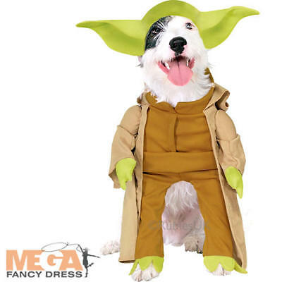 Yoda Dog Fancy Dress Star Wars Scifi Film Pet Puppy Animal Halloween Costume New