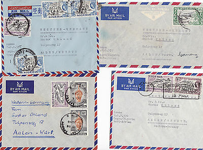 11 Old Nigeria Air Mail Covers