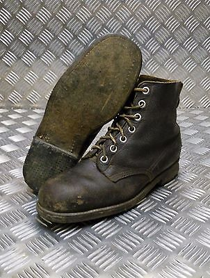 Genuine Vintage Leather WW2 Military Brown Combat Boots Dated 1942 Size 43