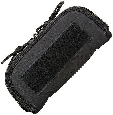 """9"""" X 4"""" (exterior) ZIP UP CASE FOR ONE FOLDING KNIFE, PADDED BLACK CORDURA AC180"""